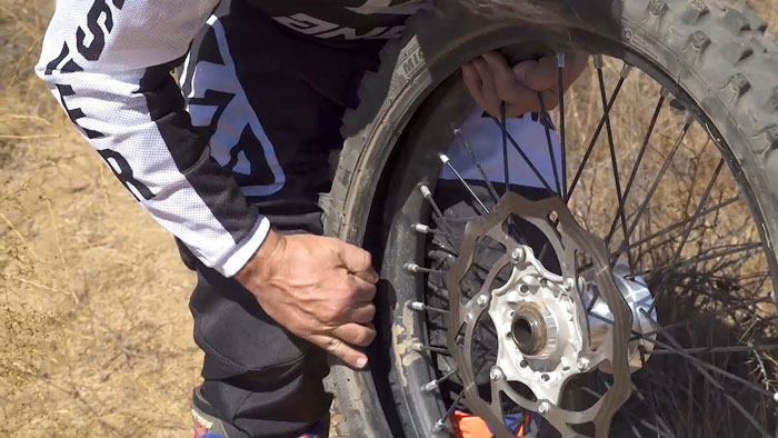A-Flat-Tire-On-A-Motorcycle