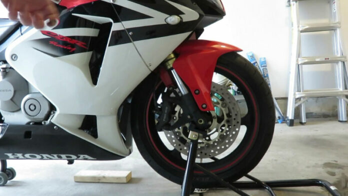How to Remove Front Motorcycle Wheel Without a Stand?