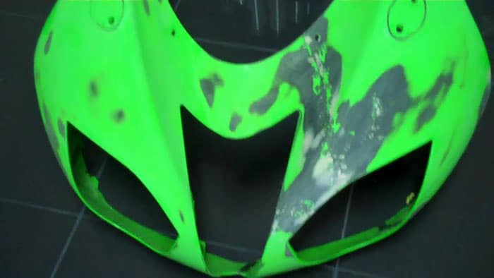 Repair-Deep-Scratches-on-a-Motorcycle-Fairing