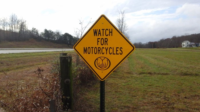 Allstate's Motorcycle Safety Signs