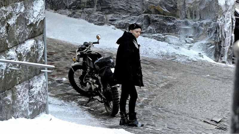 Lisbeth Salander's CL350 Café Racer in The Girl With the Dragon Tattoo
