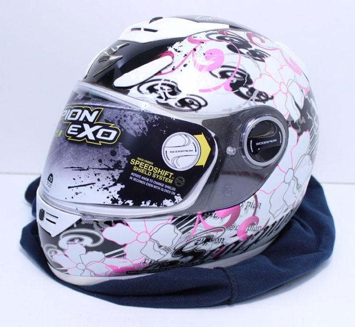 Scorpion EXO-700 Fiore Pink Helmet