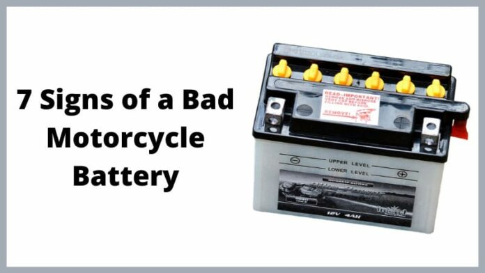 7 Signs of a Bad Motorcycle Battery