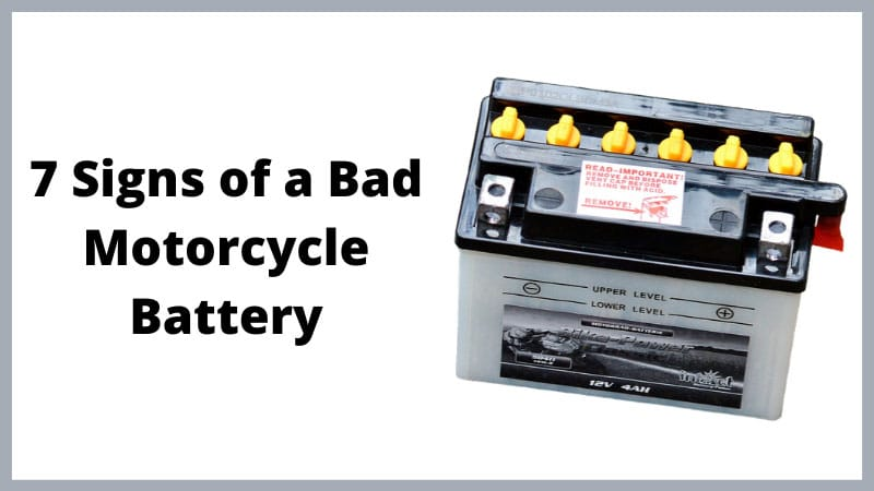 Signs of a Bad Motorcycle Battery