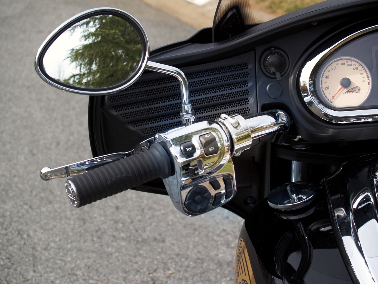 throttle and mirror