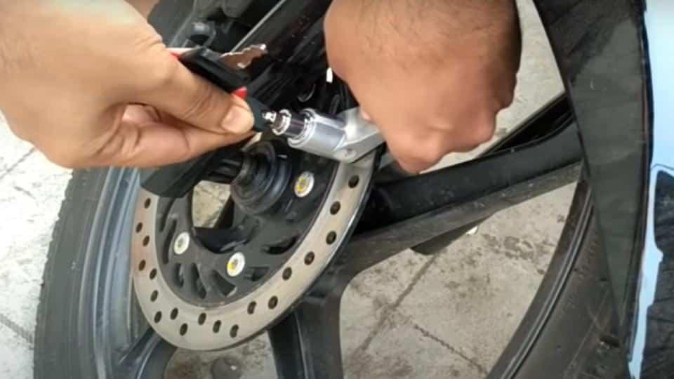 brake disk lock with key