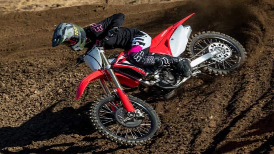 man riding a dirt bike