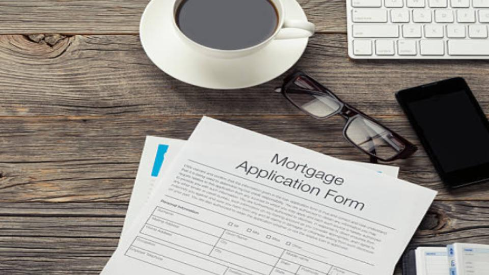 mortgage application form on a table